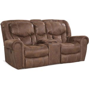 HomeStretch 123 Collection Traditional Rocking Love Seat