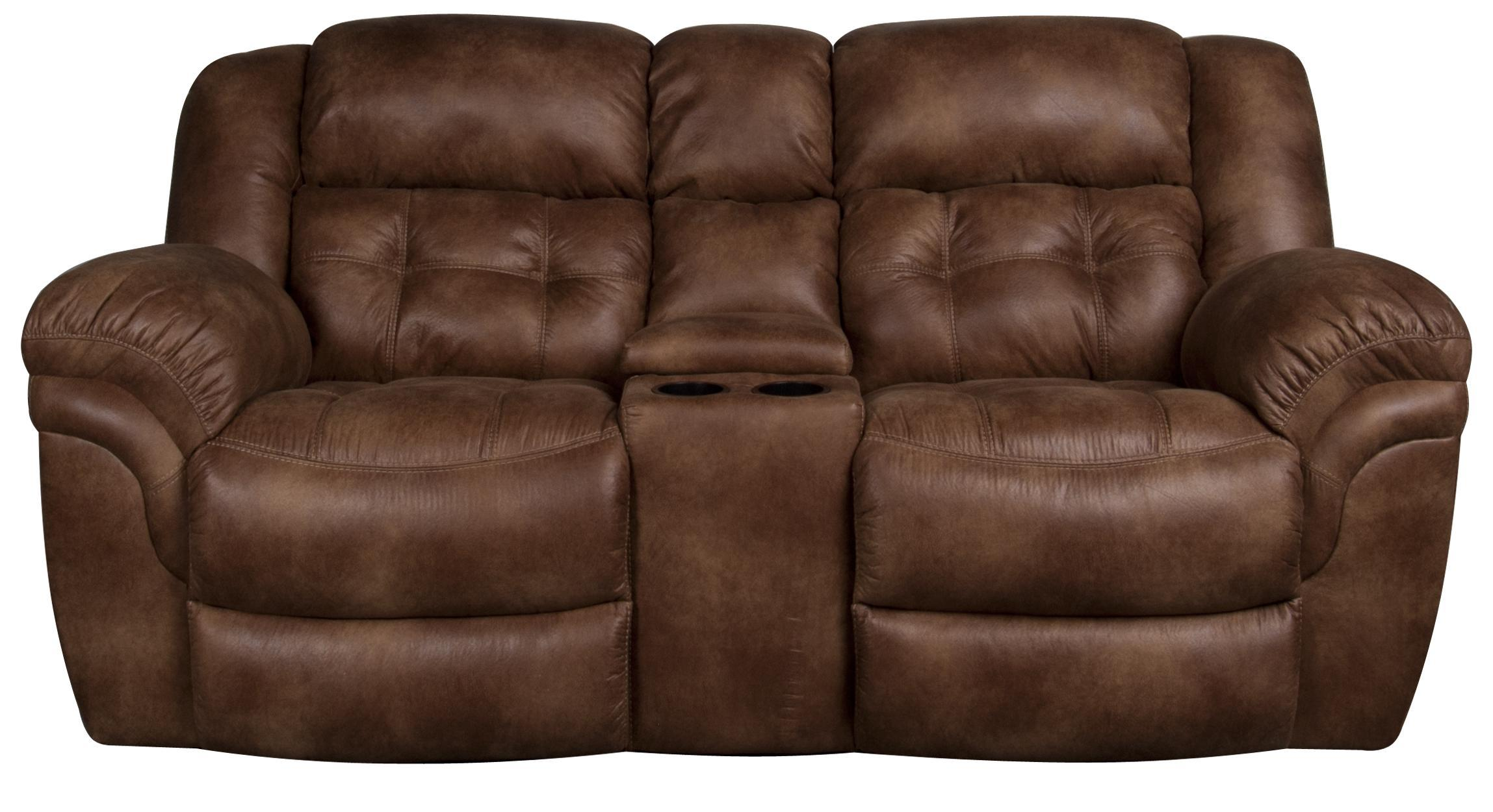 Morris Home Furnishings Elijah Elijah Reclining Loveseat with Console - Item Number: 105855071