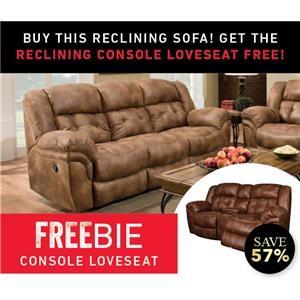 Elijah Reclining sofa with Freebie Loveseat