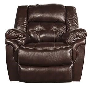 Morris Home Furnishings Elijah Elijah Leather-Match* Power Rocker Recliner