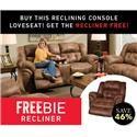 Morris Home Furnishings Elijah Elijah Console Loveseat with Freebie Recline - Item Number: 958225378