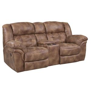 HomeStretch Padre Reclining Console Loveseat