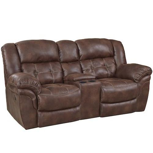 129 Reclining Console Loveseat by HomeStretch at Suburban Furniture