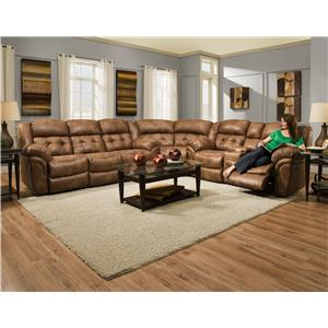 HomeStretch 129 Reclining Sectional Sofa