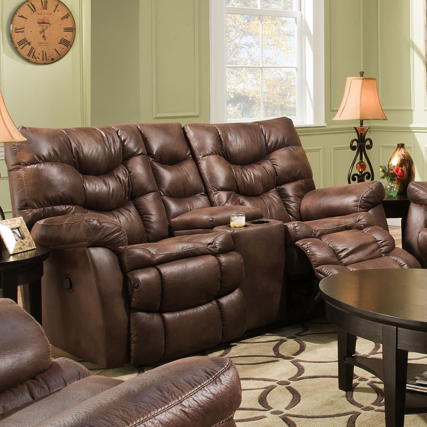 HomeStretch 130 Casual Reclining Love Seat - Item Number: 130-22-21