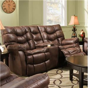 HomeStretch 130 Casual Reclining Love Seat