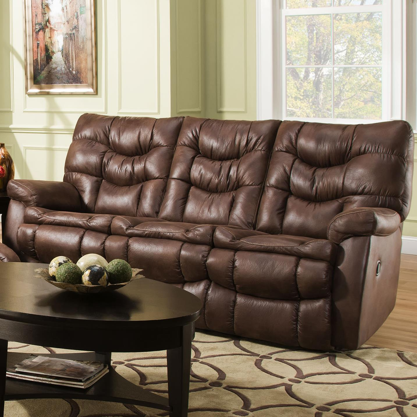 HomeStretch 130 Casual Reclining Sofa - Item Number: 130-30-21