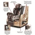 HomeStretch 134 Plush Chaise Rocker Recliner