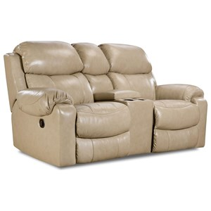 Comfort Living 135 Collection Reclining Console Loveseat