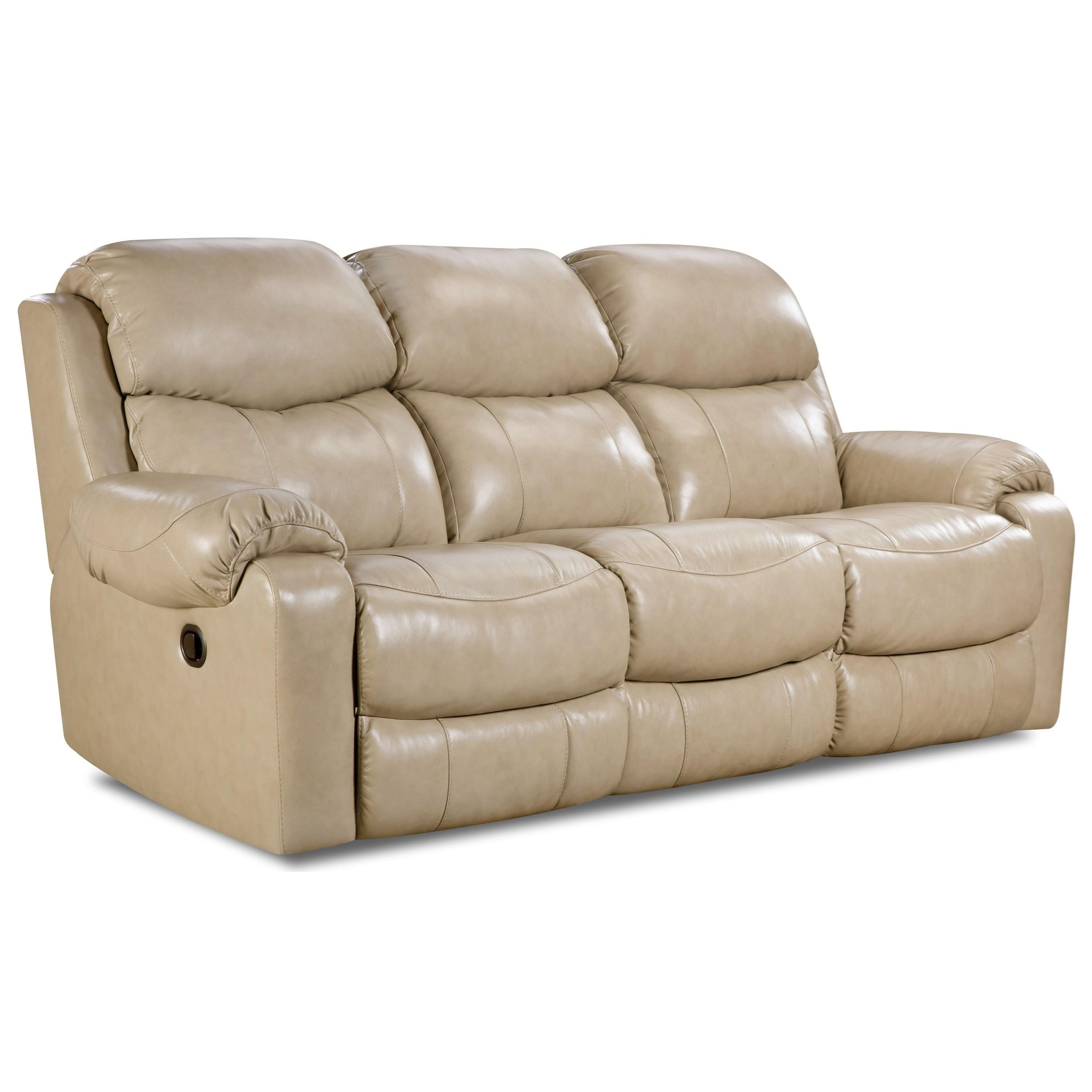 HomeStretch 135 Collection Double Reclining Sofa - Item Number: 135-30-10