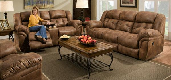 Comfort Living Sierra Reclining Sofa & Loveseat Set - Item Number: 129-22+39