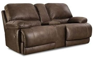 HomeStretch 147 Reclining Console Loveseat - Item Number: 147-22-21