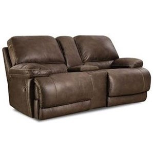 HomeStretch 147 Reclining Console Loveseat