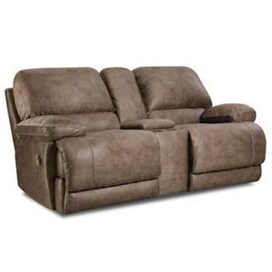 HomeStretch Diversey Slate Power Reclining Console Loveseat