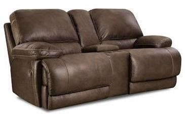 Comfort Living 147 Power Reclining Console Loveseat - Item Number: 147-29-21