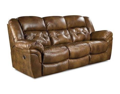 HomeStretch 155 Cheyene Leather Double Reclining Sofa - Item Number: HOMS-155-30-15