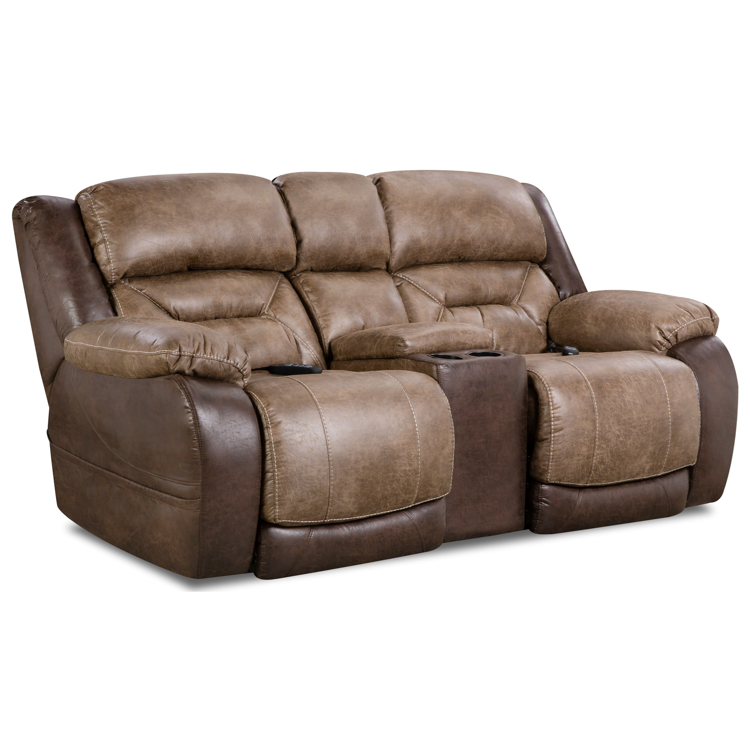 HomeStretch 168 Collection Power Console Loveseat - Item Number: 168-57-17