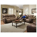 HomeStretch 168 Collection Power Console Loveseat - Shown with Reclining Sofa