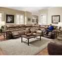 HomeStretch 168 Collection Power Reclining Sectional with Storage Console