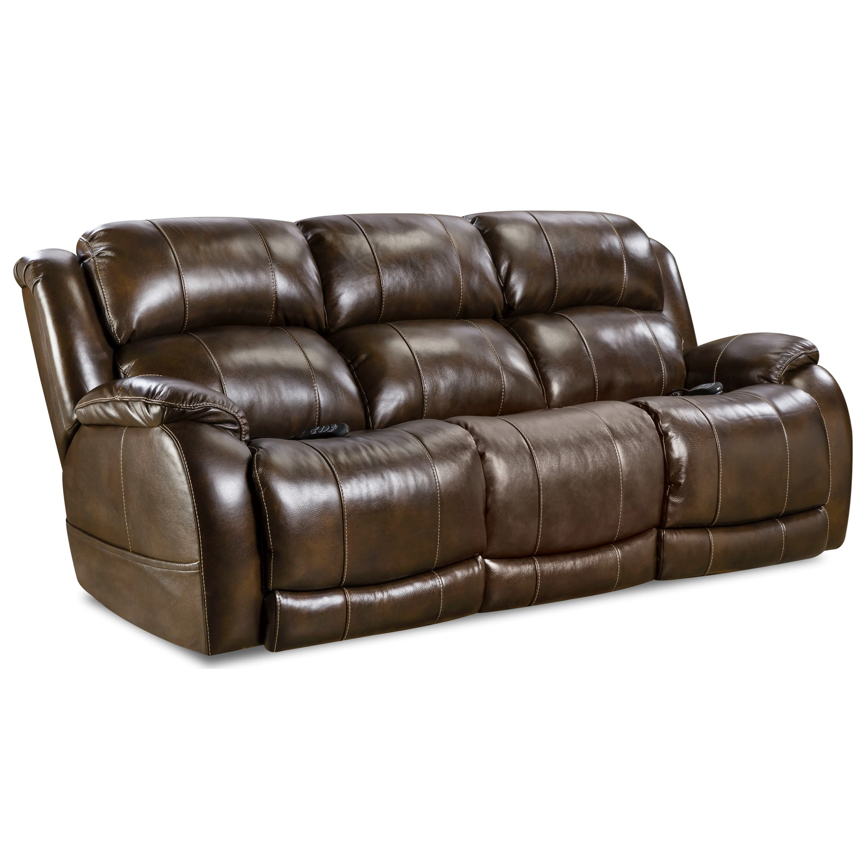 HomeStretch 170 Collection Double Reclining Power Sofa - Item Number: 170-37-21