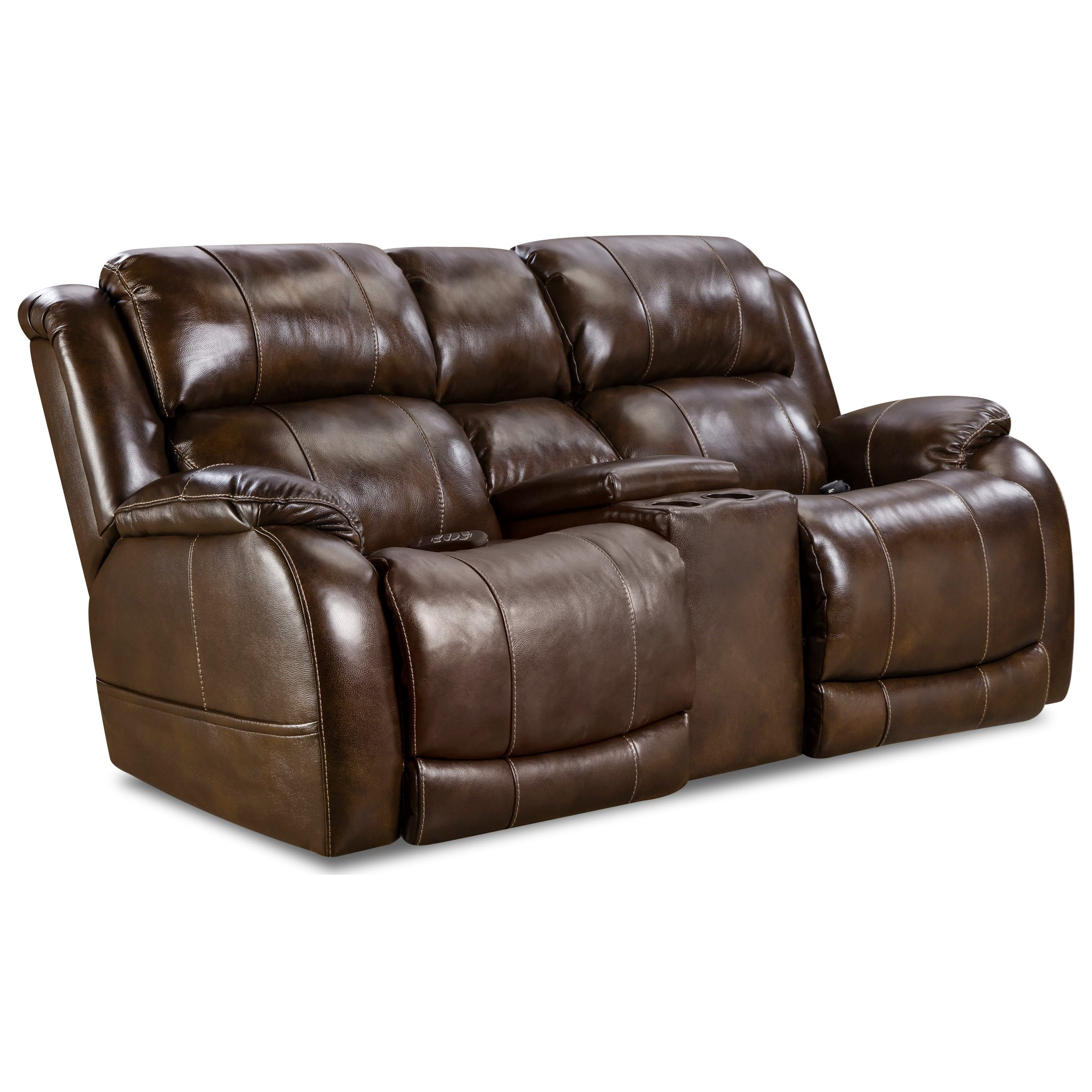 HomeStretch 170 Collection Power Reclining Console Loveseat - Item Number: 170-57-21