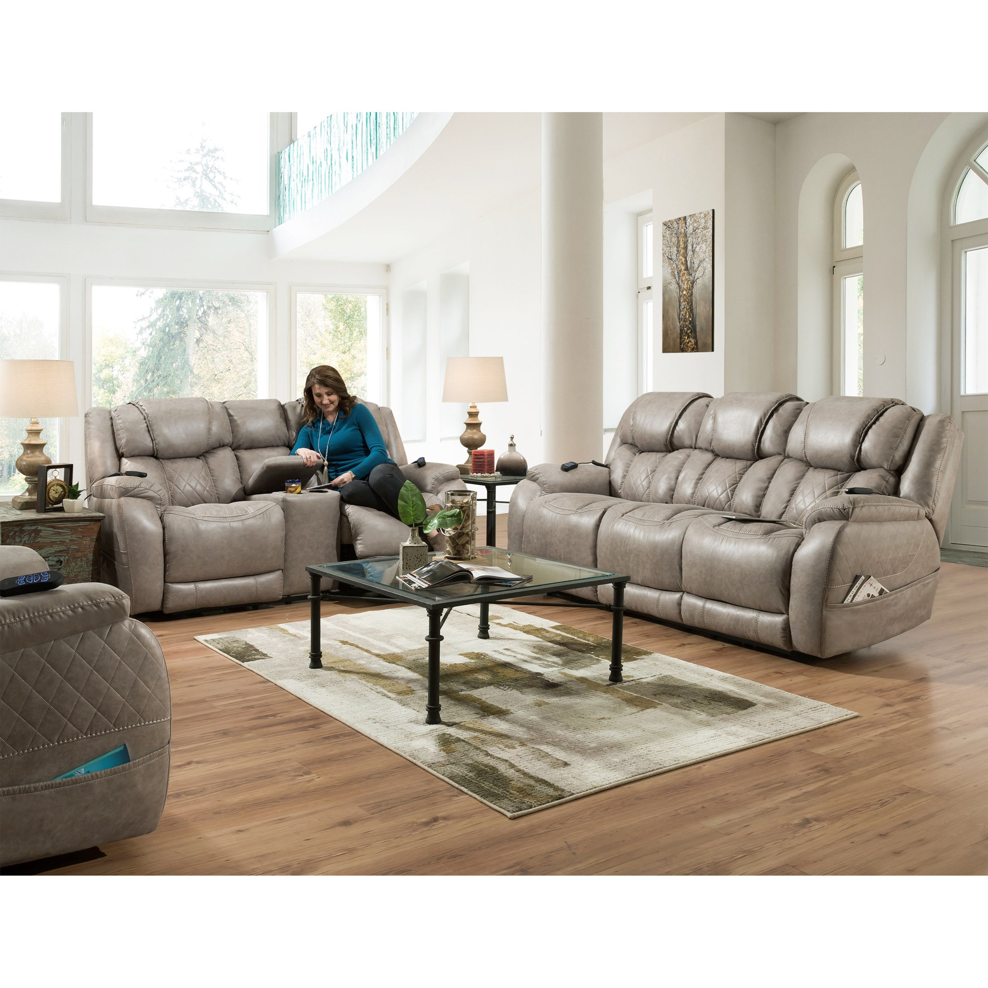174 Reclining Living Room Group by HomeStretch at Westrich Furniture & Appliances