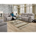 HomeStretch 175 Collection Double Reclining Power Sofa - Shown with Loveseat