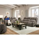 HomeStretch 177 Power Reclining Console Loveseat with