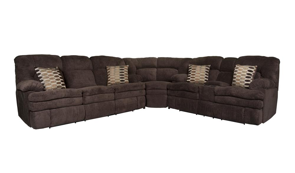 Morris Home Furnishings Trevor Trevor 3-Piece Reclining Sectional - Item Number: 134103039