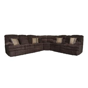 Morris Home Furnishings Trevor Trevor 3-Piece Reclining Sectional