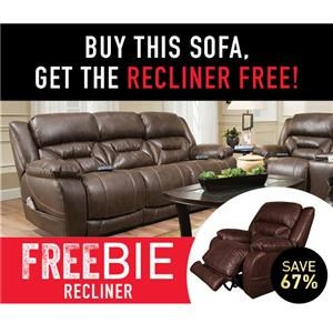 Arnette Sofa with Freebie Recliner