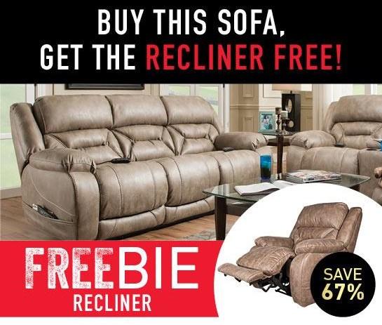 Arnette Sofa with FREEBIE RECLINER