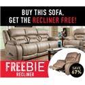 HomeStretch Arnette Arnette Sofa with FREEBIE RECLINER - Item Number: 631644087