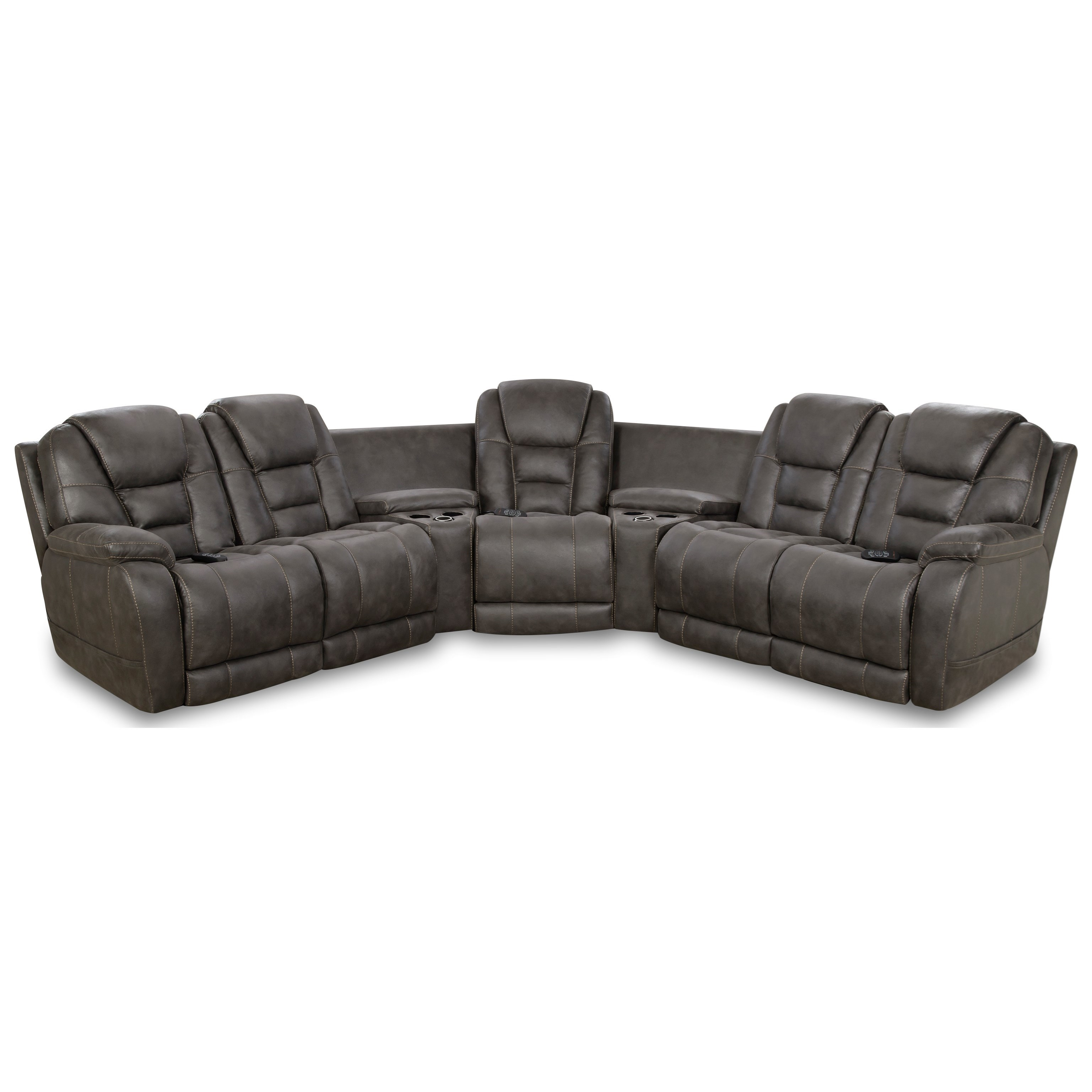 Bronco Power Sectional by HomeStretch at Turk Furniture