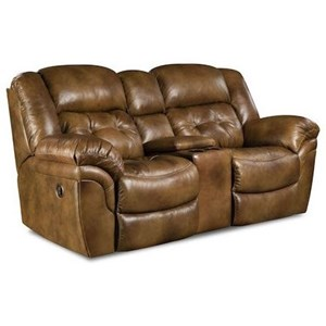 HomeStretch Cheyenne Power Reclining Console Loveseat
