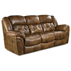 HomeStretch Cheyenne Double Reclining Power Sofa