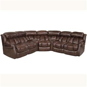 HomeStretch Cody Casual Power Recline Sectional