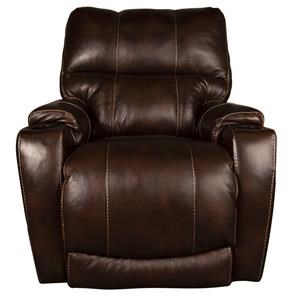 Morris Home Furnishings Daly Daly Leather-Match Power Recliner