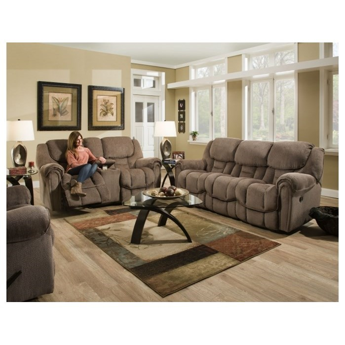 Homestretch Del Mar 122 Casual Double Reclining Sofa With