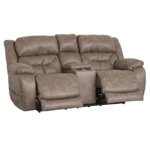 HomeStretch Enterprise Power Reclining Console Loveseat