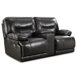 HomeStretch Marshall Power Reclining Console Loveseat