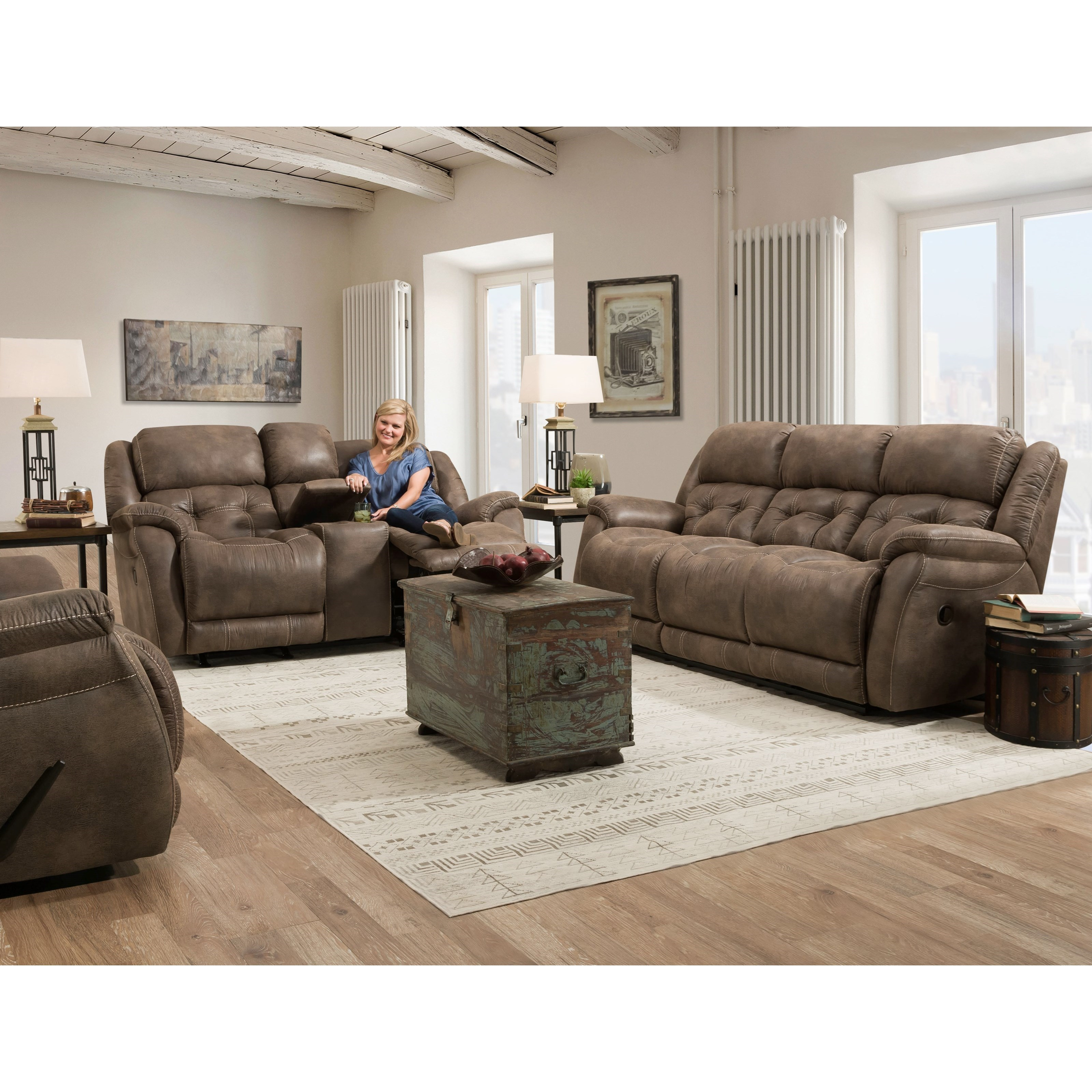 McLean Reclining Living Room Group by HomeStretch at Standard Furniture