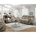 HomeStretch McLean Reclining Living Room Group - Item Number: 181 Living Room Group 1 Gray