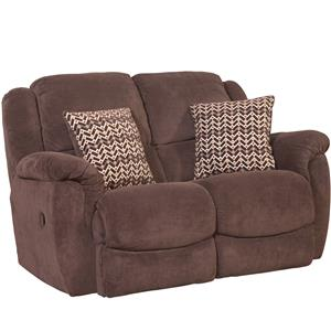 HomeStretch Newman Casual Rocking Love Seat