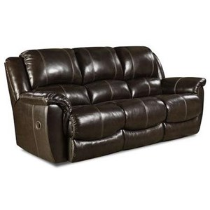 HomeStretch Princeton Double Reclining Power Sofa