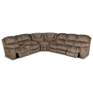 HomeStretch 145 Super Wedge Power Reclining Sectional