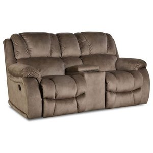HomeStretch 145 Power Reclining Console Loveseat