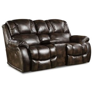 HomeStretch 145 Reclining Console Loveseat