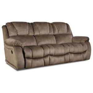 HomeStretch 145 Brama Double Reclining Sofa with Pillow Arms