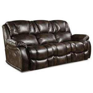 HomeStretch 145 Double Reclining Power Sofa